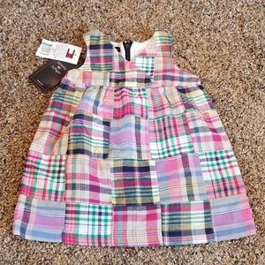 Tommy Hilfiger Baby Girl Plaid Dress NWT 3-6 month